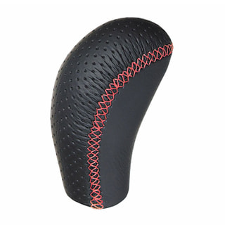 SPORT GRIP KNOB LEATHER 400 RED STITCH